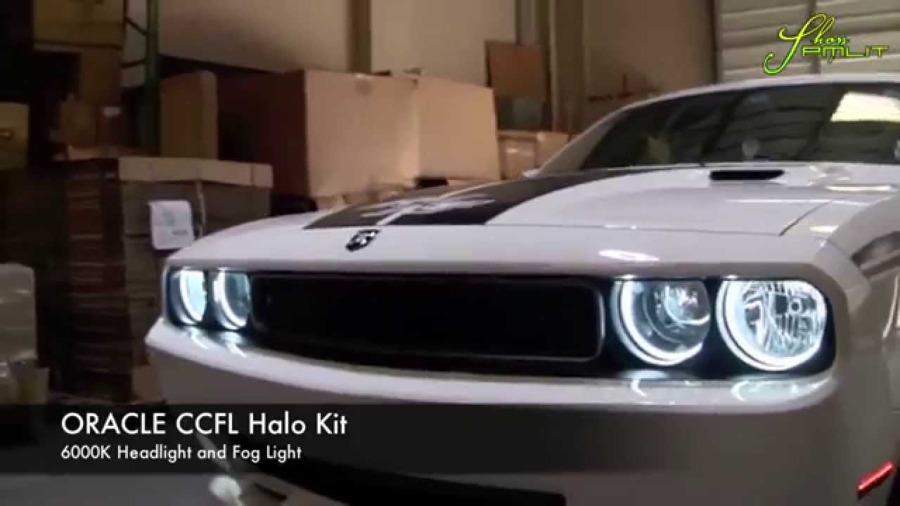 Oracle Dodge Challenger White Angel Eyes Halo Kit By