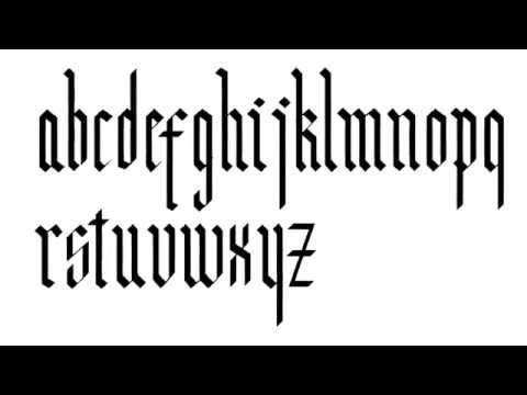How To Write Modern Gothic Calligraphy Alphabet Step By