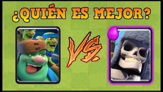 DUENDE GIGANTE vs ESQUELETO GIGANTE - Clash Royale - 1 vs 1 duelo