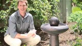 Smart Solar Rounded Solar Garden Bird Bath Fountain - Product Review Video