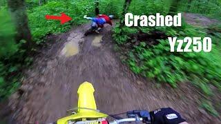 He Crashed His Yz250!! - SOO SLIPPERY