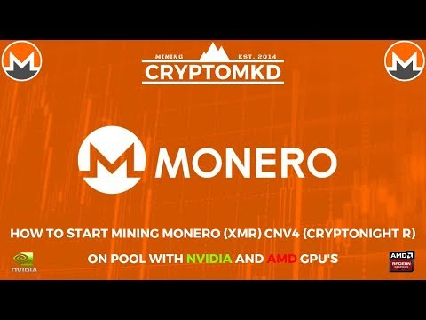 How to start mining Monero (XMR) CNv4 Cryptonight R on pool