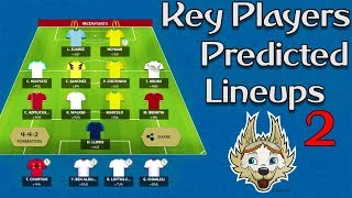 World Cup Fantasy : Key Players & Predicted Lineups ⚽ Part 2