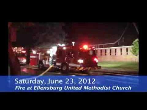 United Methodist church fire