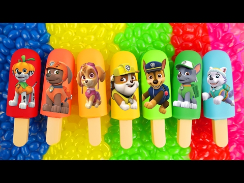 Paw Patrol popsicles for preschool learning