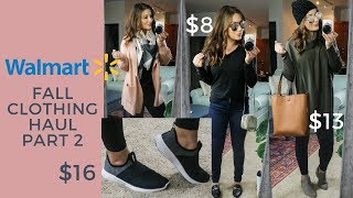 WALMART FALL FASHION TRY ON HAUL 2018 PART 2