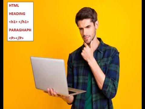 HTML web design tutorial-Heading HTML tag and Paragraph HTML tag thumbnail