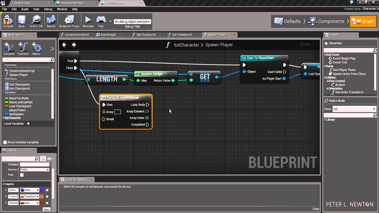 Blueprints - How to Setup Respawns & Checkpoints 1/2 - Unreal Engine 4