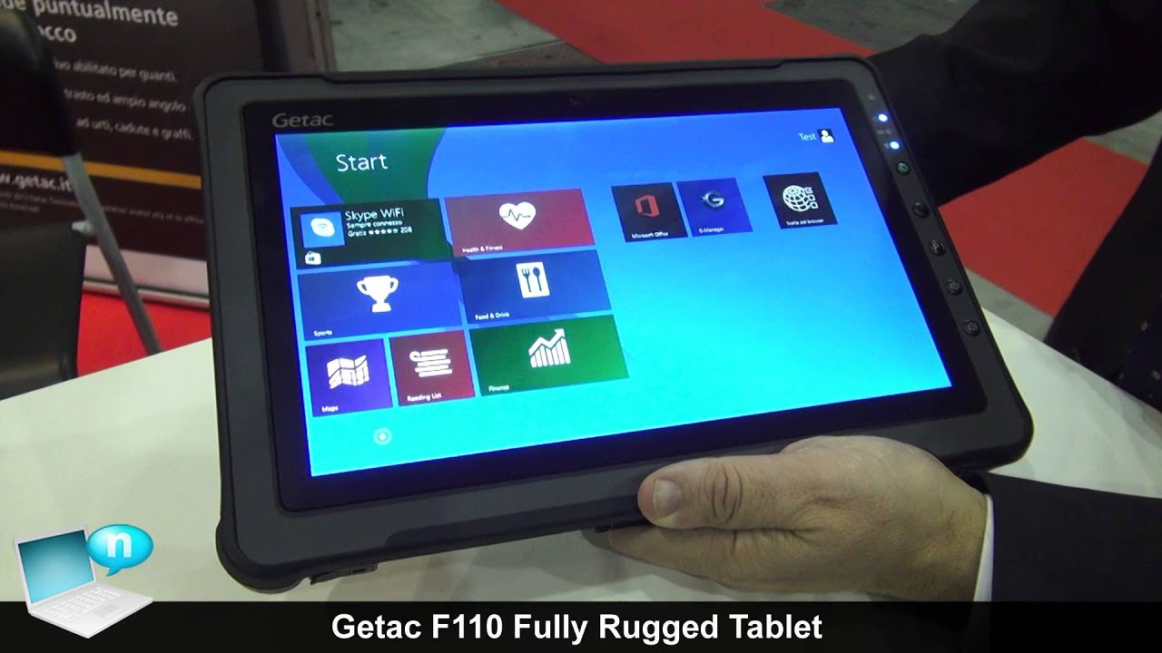 Getac F110 Fully Rugged Tablet Youtube