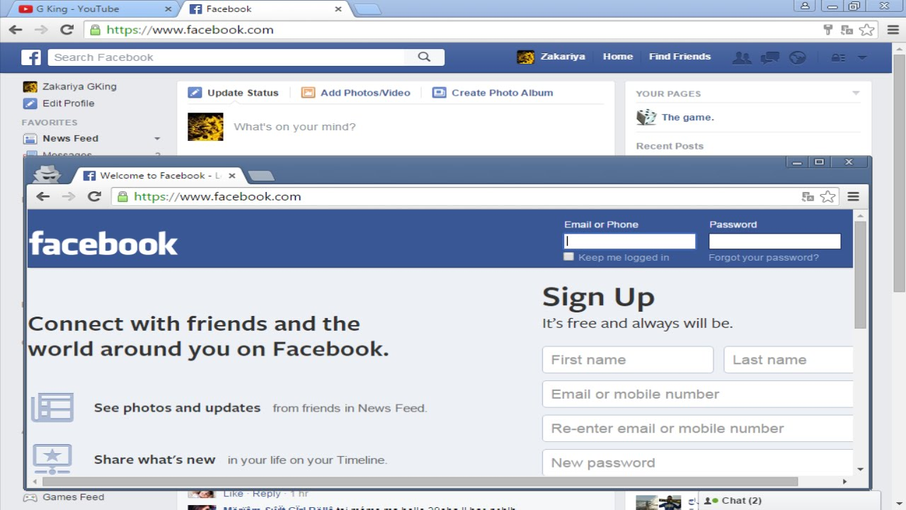How to open multiple Facebook accounts in the same browser