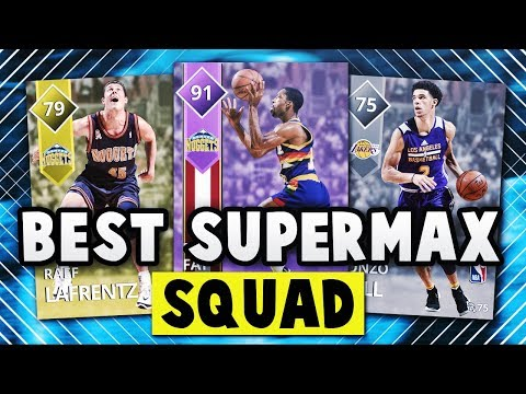 NBA 2K18 MyTEAM THE BEST TEAM THAT YOU CAN USE FOR SUPER MAX!! | NBA 2K18 MyTEAM SQUAD BUILDER