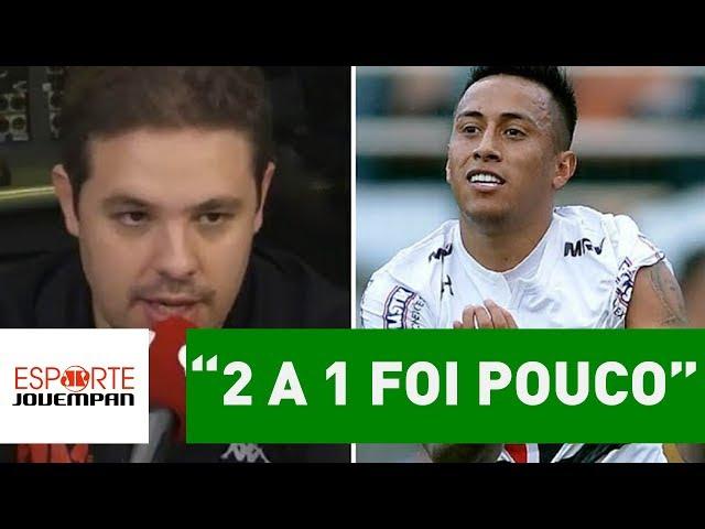 """""""2 a 1 foi pouco"""", diz Bruno Prado sobre São Paulo x Santos"""