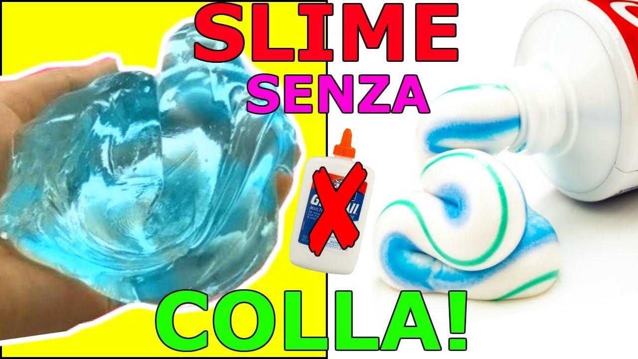 5 SLIME SENZA COLLA E SENZA ADDENSANTE!WATER SLIME FUNZIONANO?