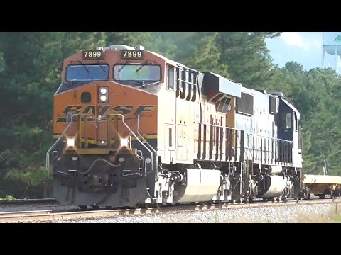[3D] Confused Schedules: Trains w/ CSX, FXE, BNSF Leaders, Winder - Colbert GA, 07/15/2016 ©mbmars01