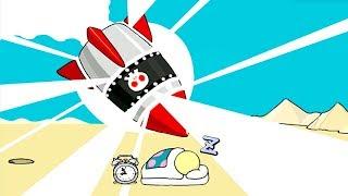 【小熙解说】大炮模拟器 我是一门大炮并且有10发炮弹叫醒小人!