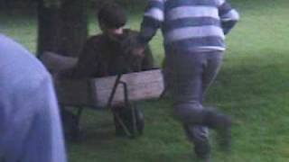 Breaking The Wooden Wheel Barrow Thing