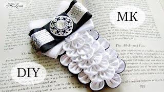 ГАЛСТУК-ЖАБО, МК / DIY Kanzashi Tie / DIY  Bow Tie Brooch Pin
