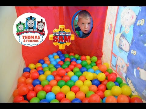 HUGE Thomas And Friends Ball Pit Fireman Sam Toys Kids Ball Pit Fun Tents Feuerwehrmann Sam