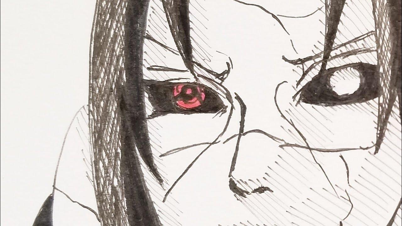 イラスト30うちはイタチ描いてみた Youtube