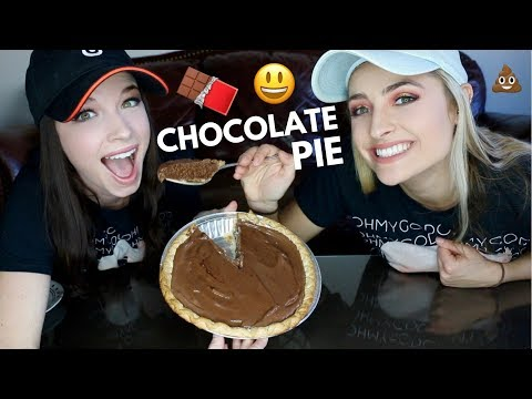 CHOCOLATE FUDGE PIE! recipe and mukbang