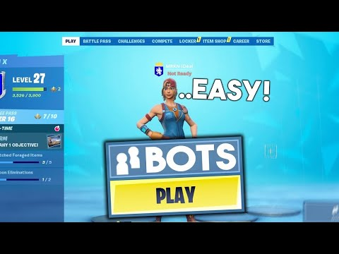 How To Get *BOT LOBBIES* In Fortnite Chapter 2! PS4, XBOX, PC, MOBILE, SWITCH! (EASY WINS)