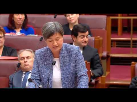Senator Penny Wong responds to Cory Bernardi's resignation from the Liberal Party