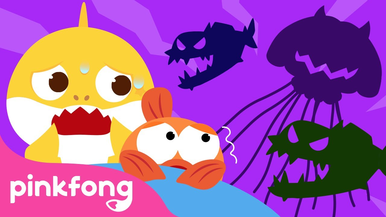 Baby Shark's Nightmare👻 | Spooky Sea Monster | Sing Along with Baby Shark | Pinkfong Songs for Kids
