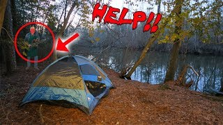 I WAS CHASED WITH A CHAINSAW WHILE CAMPING IN A HAUNTED FOREST! *CAUGHT ON CAMERA* | MOE SARGI