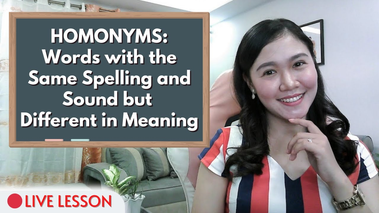 Download HOMONYMS: Words with the Same Spelling and Sound but Different in Meaning ‖ Aubrey Bermudez