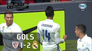 Gols - Athletic Bilbao 1 x 2 Real Madrid - La Liga 16-17