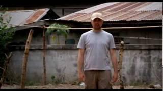 Karl Pilkington visits a farting snake village in Thailand