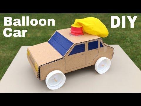 How to Make Amazing Balloon Powered Car - Air Car