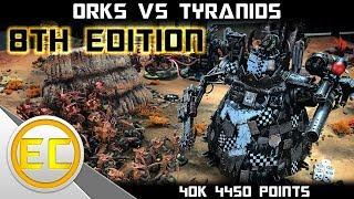 Orks vs Tyranids Warhammer 40,000 8th Edition Battle Report 1080p