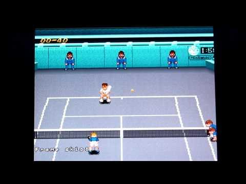 Super Tennis Snes - Matt (me) vs. Brian, Ny Open, SF