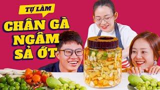 Vào Bếp Cùng Hải Yến : Chân Gà Sả Ớt Ngon Đến Mức Sếp Huy NL Cũng Phải Khen !
