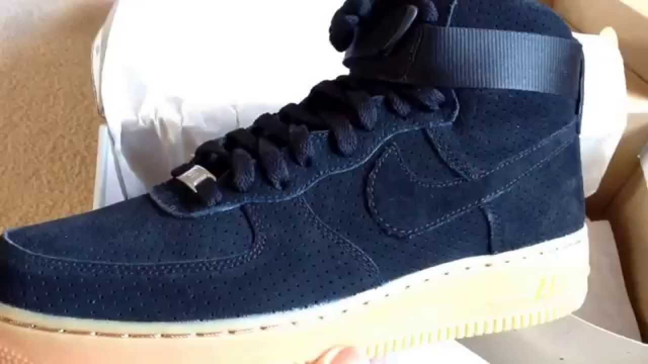 Nike Air Force 1 High Black Suede Gum