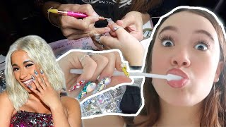 My $$$ Cardi B Nail Artist Experience in NYC! Worth it? Fiona Frills