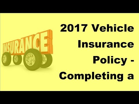 2017 Vehicle Insurance Policy| Completing a Spanish Car Insurance Claim Form