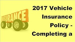 2017 Vehicle Insurance Policy    Completing a Spanish Car Insurance Claim Form