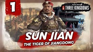 THE TIGER OF JIANGDONG RISES! Total War: Three Kingdoms - Sun Jian - Romance Campaign #1