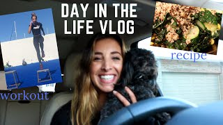 DAY IN THE LIFE VLOG | A gym workout + quick dinner recipe