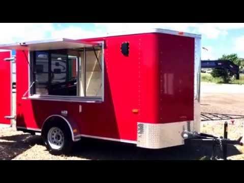 New 2016 Cargo Craft Elite V 7x12 Enclosed Concession Trailer for sale.