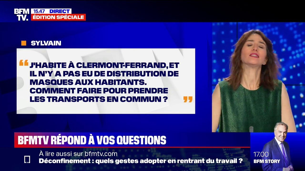 À Clermont-Ferrand, il n'y a pas eu de distribution de masques, comment faire dans les transpor