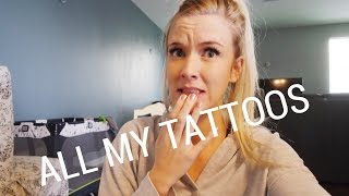 MY TATTOOS |I LET MY HUSBAND TATTOO ME!|