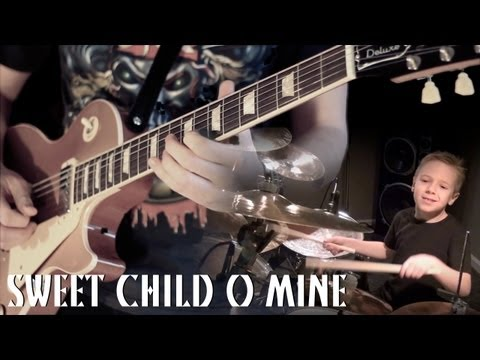 'SWEET CHILD O MINE' – Instrumental Cover – Performed by Karl Golden & Avery Drummer (Aged 6)