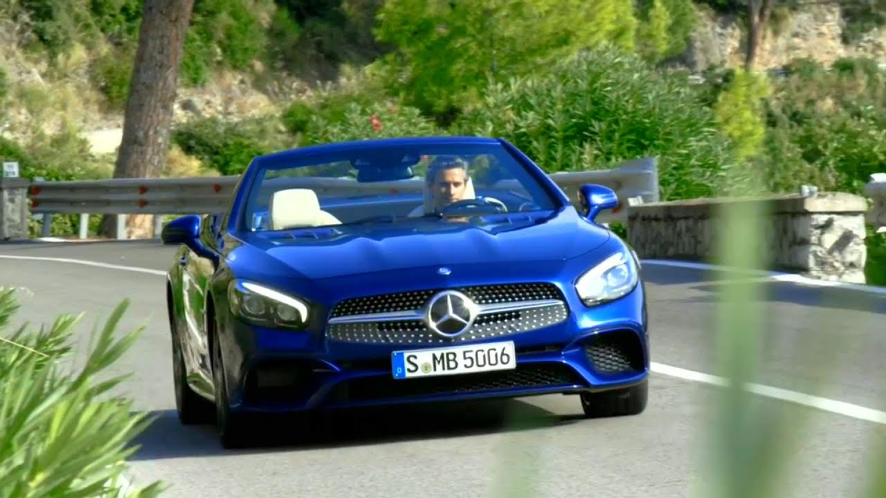 2017 mercedes benz sl 500 road and interior trailer youtube for Mercedes benz 500 2017