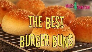 How To Make Perfect Gourmet Burger Buns. Sesame Burger Buns Recipe From Whats4chow.com