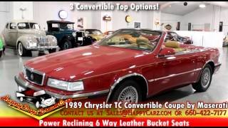for sale 1989 chrysler tc convertible coupe by maserati visit happycarz com