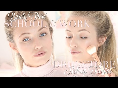 'Barely There' Makeup for School/Work ALL Drugstore Products | Freddy My Love