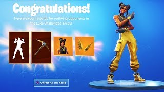 The New MAX LUXE SKIN in Fortnite.. (Gold Wings Back Bling Unlocked!)